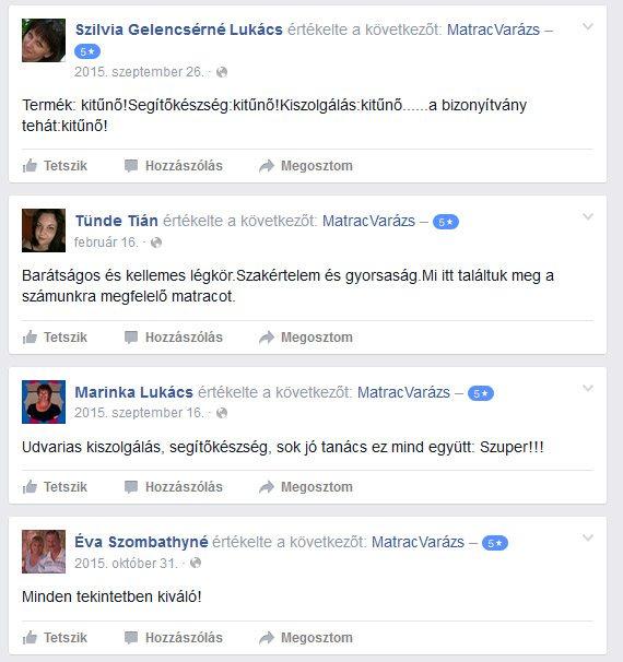 Matracvarázs vélemények a facebookról